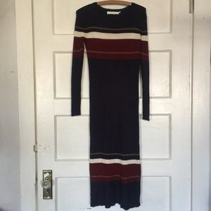 ASTR The Label Navy Stripe Maxi Sweater Dress